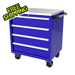 Moduline 4-Drawer Blue Aluminum Toolbox