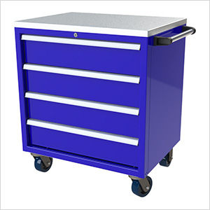 4-Drawer Blue Aluminum Toolbox