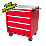 Moduline 4-Drawer Red Aluminum Toolbox