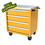 Moduline 4-Drawer Yellow Aluminum Toolbox