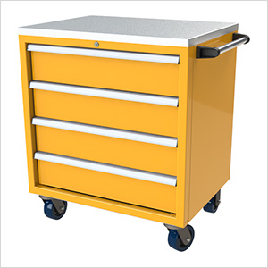 4-Drawer Yellow Aluminum Toolbox