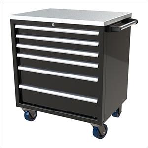 6-Drawer Black Aluminum Tool Cabinet