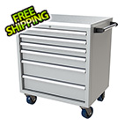 Moduline 6-Drawer Light Grey Aluminum Tool Cabinet