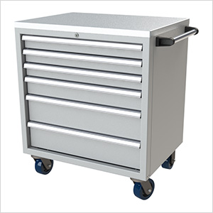 6-Drawer Light Grey Aluminum Tool Cabinet