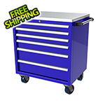 Moduline 6-Drawer Blue Aluminum Tool Cabinet