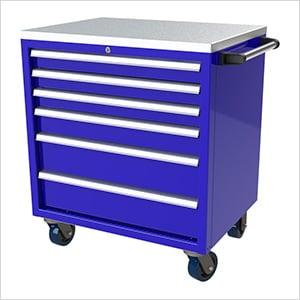 6-Drawer Blue Aluminum Tool Cabinet