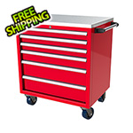 Moduline 6-Drawer Red Aluminum Tool Cabinet