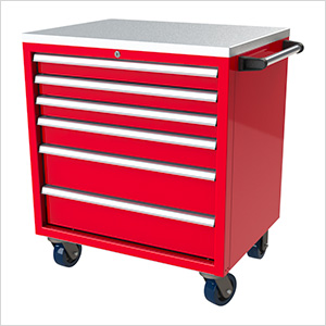 6-Drawer Red Aluminum Tool Cabinet