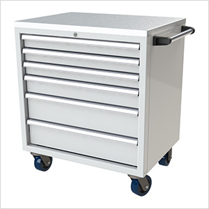 6-Drawer White Aluminum Tool Cabinet