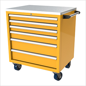 6-Drawer Yellow Aluminum Tool Cabinet