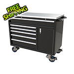 Moduline 6-Drawer / 1-Door Black Aluminum Tool Cabinet