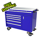 Moduline 6-Drawer / 1-Door Blue Aluminum Tool Cabinet