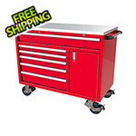 Moduline 6-Drawer / 1-Door Red Aluminum Tool Cabinet