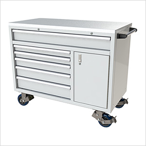 6-Drawer / 1-Door White Aluminum Tool Cabinet