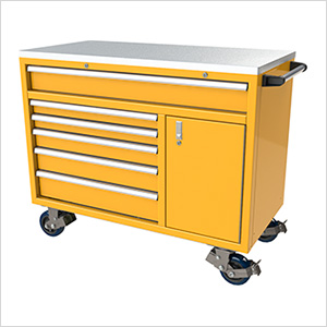 6-Drawer / 1-Door Yellow Aluminum Tool Cabinet