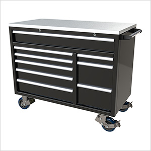 9-Drawer Black Aluminum Toolbox