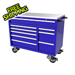 Moduline 9-Drawer Blue Aluminum Toolbox