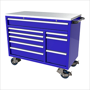 9-Drawer Blue Aluminum Toolbox