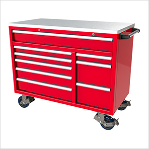 9-Drawer Red Aluminum Toolbox