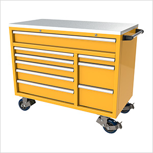 9-Drawer Yellow Aluminum Toolbox