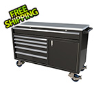 Moduline 6-Drawer / 1-Door Black Aluminum Tool Chest