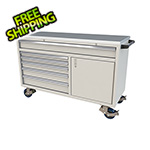 Moduline 6-Drawer / 1-Door Light Grey Aluminum Tool Chest