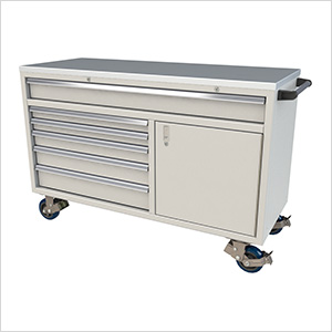 6-Drawer / 1-Door Light Grey Aluminum Tool Chest