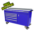 Moduline 6-Drawer / 1-Door Blue Aluminum Tool Chest