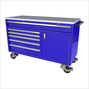 6-Drawer / 1-Door Blue Aluminum Tool Chest