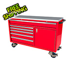 Moduline 6-Drawer / 1-Door Red Aluminum Tool Chest