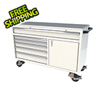 Moduline 6-Drawer / 1-Door White Aluminum Tool Chest