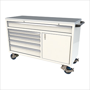 6-Drawer / 1-Door White Aluminum Tool Chest
