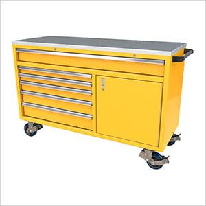 6-Drawer / 1-Door Yellow Aluminum Tool Chest