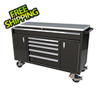 Moduline 6-Drawer / 2-Door Black Aluminum Toolbox