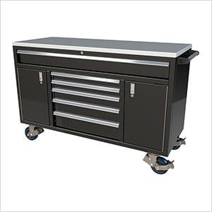 6-Drawer / 2-Door Black Aluminum Toolbox