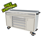 Moduline 6-Drawer / 2-Door Light Grey Aluminum Toolbox