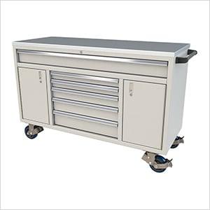 6-Drawer / 2-Door Light Grey Aluminum Toolbox