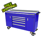 Moduline 6-Drawer / 2-Door Blue Aluminum Toolbox
