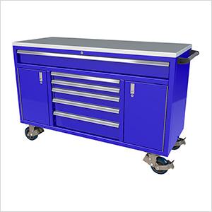 6-Drawer / 2-Door Blue Aluminum Toolbox