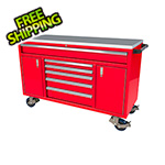 Moduline 6-Drawer / 2-Door Red Aluminum Toolbox