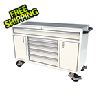 Moduline 6-Drawer / 2-Door White Aluminum Toolbox