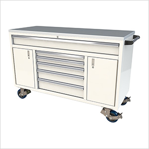 6-Drawer / 2-Door White Aluminum Toolbox