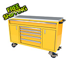 Moduline 6-Drawer / 2-Door Yellow Aluminum Toolbox