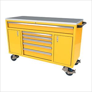 6-Drawer / 2-Door Yellow Aluminum Toolbox