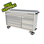 Moduline 9-Drawer Light Grey Aluminum Tool Cabinet