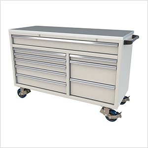 9-Drawer Light Grey Aluminum Tool Cabinet