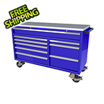 Moduline 9-Drawer Blue Aluminum Tool Cabinet