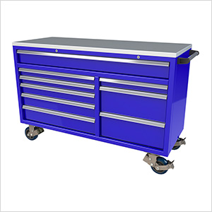 9-Drawer Blue Aluminum Tool Cabinet