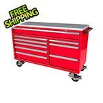 Moduline 9-Drawer Red Aluminum Tool Cabinet