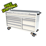 Moduline 9-Drawer White Aluminum Tool Cabinet